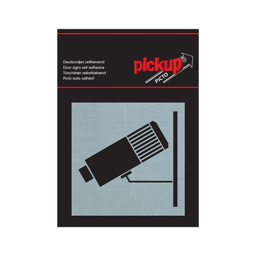 Pickup aluminium plaat Route sticker Camerabewaking 80x80mm