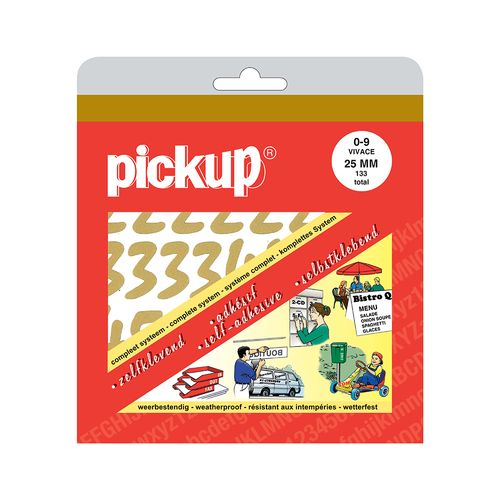 Pickup pochette kleefcijfers Vivace 25mm goud