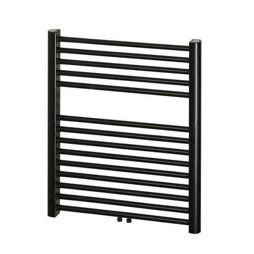 Haceka handdoekradiator 'Gobi' zwart 69x59cm