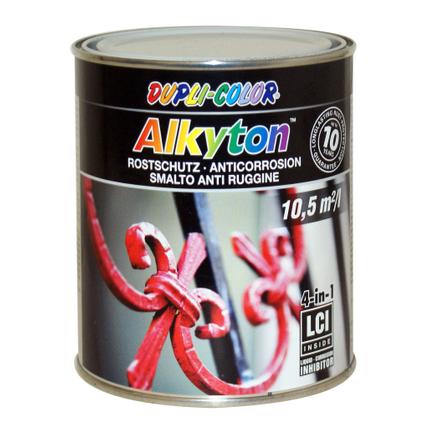 Peinture Dupli-Color Alkyton antirouille blanc RAL 9010 satiné 750 ml