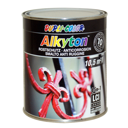 Dupli-Color Alkyton roestbeschermingslak zijdeglans wit 750ml