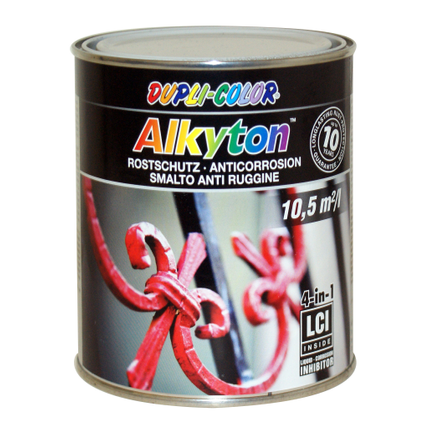 Peinture Dupli-Color Alkyton antirouille vert martelé 750 ml