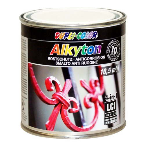Dupli-Color Alkyton roestbeschermingslak hoogglans wit 250ml