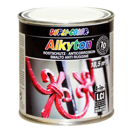 Peinture Dupli-Color Alkyton antirouille noir métallique mica 250 ml