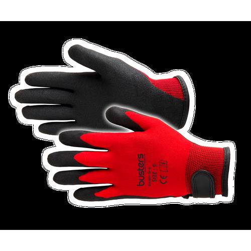Busters Garden Grip handschoen rood S/M