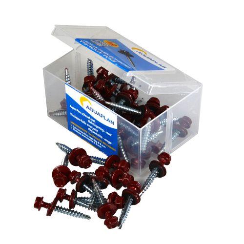 Aquaplan schroef Aqua-pan rood 40 stuks