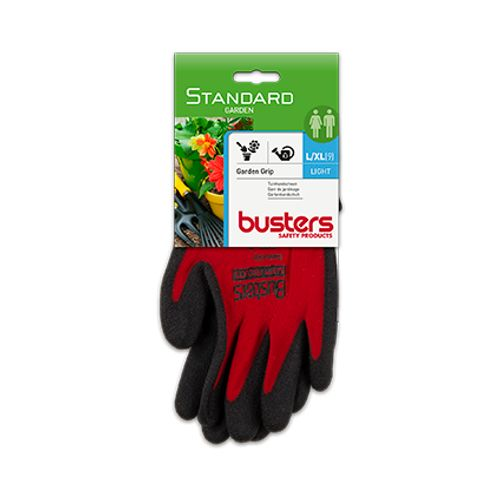 Gants Busters 'Garden grip' nylon/HPT rouge T9