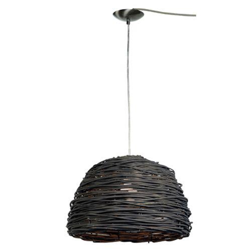 Abat-jour Home Sweet Home 'Roseau' noir Ø 40 cm