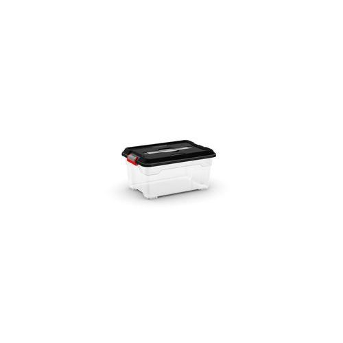 Kis opbergdoos 'Moover Box XS' transparant/zwart 12L