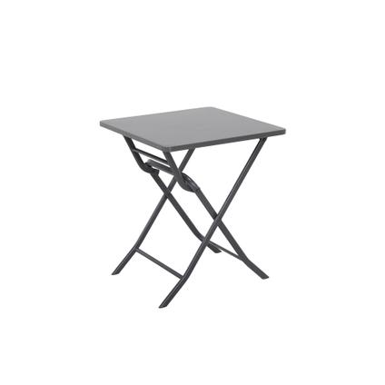 Table de bistrot Central Park Stacy anthracite acier 60x60cm