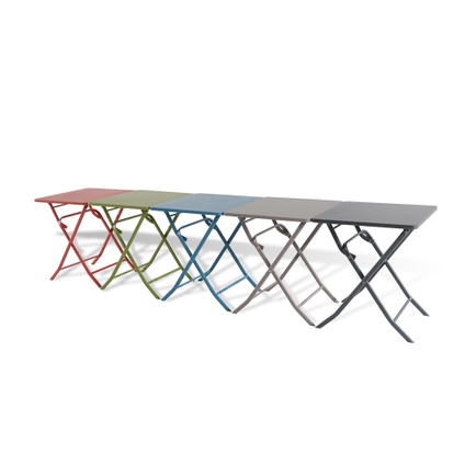 Table de bistrot Central Park Stacy taupe acier 60x60cm