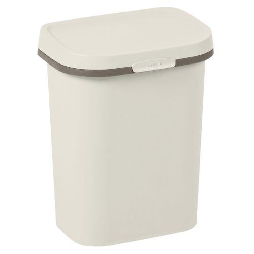 Poubelle Curver Mistral Flat 10L PVC recyclé beige