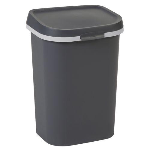 Curver vuilnisbak Mistral Flat recycled PVC antraciet 25L