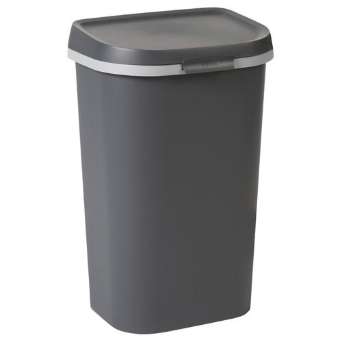Poubelle Curver Mistral Flat 50L PVC recyclé anthracite