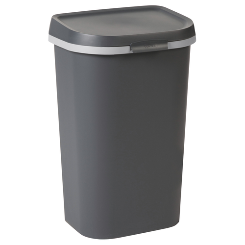 Curver vuilnisbak Mistral Flat recycled PVC antraciet 50L