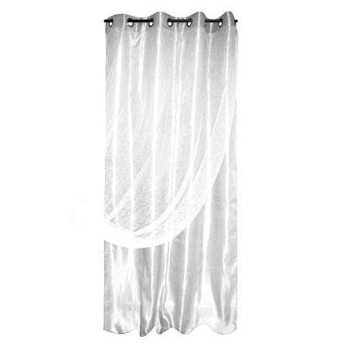 Gordijn voile dubbel Spider polyester wit 140 cm x 260 cm