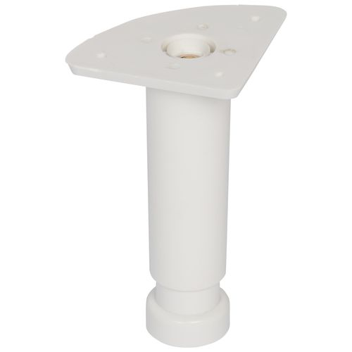 Duraline meubelpoot verstelbaar PVC 3,5x12-18cm wit