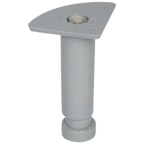 Duraline meubelpoot verstelbaar PVC 3,5x12-18cm grijs