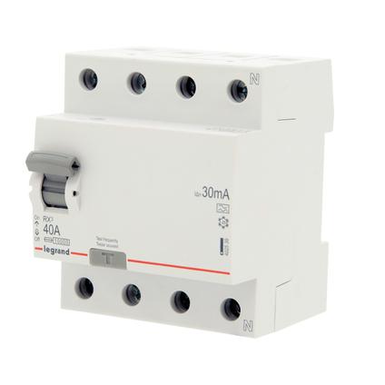 Interrupteur différentiel Legrand 'RX3' 4 pôles 30 mA