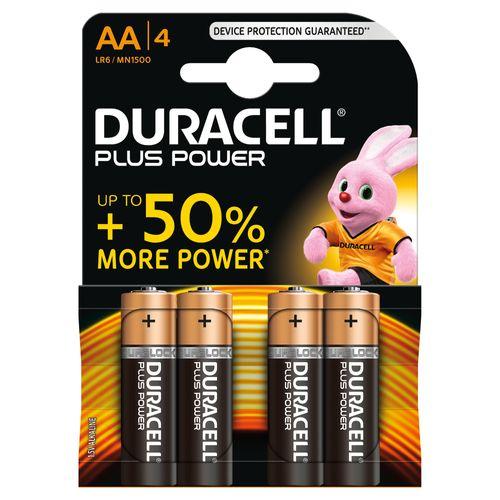 Pile alcaline Duracell Plus Power 'AA - LR6' 1,5 V - 4 pcs