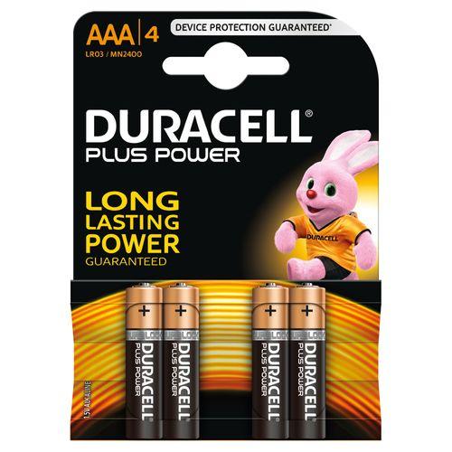 Pile alcaline Duracell Plus Power 'AAA - LR03' 1,5 V - 4 pcs