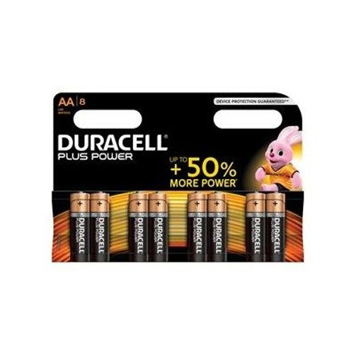 Pile alcaline plus power Duracell 'AA' 1,5 V - 8 pcs