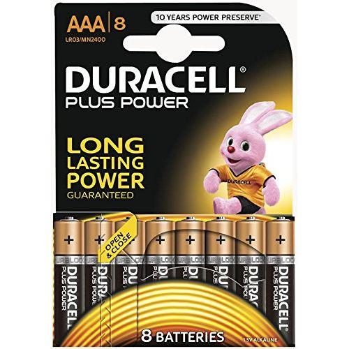 Pile alcaline plus power Duracell 'AAA' 1,5 V - 8 pcs