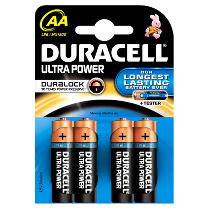 Pile alcaline Duracell Ultra Power 'AA - LR6' 1,5 V - 4 pcs