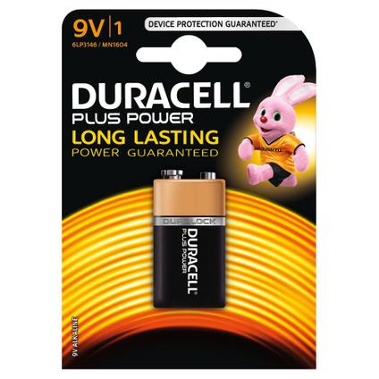 Pile alcaline plus power Duracell '9V' 9 V