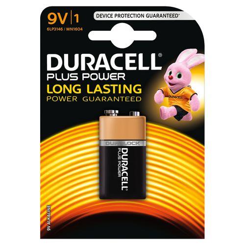 Duracell Plus Power alkaline 9V-batterij