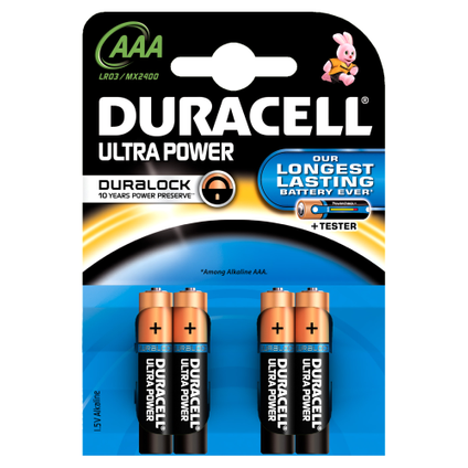 Pile alcaline Duracell Ultra Power 'AAA - LR03' 1,5 V - 4 pcs