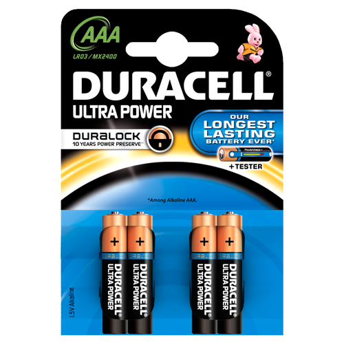 Pile alcaline Duracell Ultra Power 'AAA - LR03' 1,5 V - 4 pcs