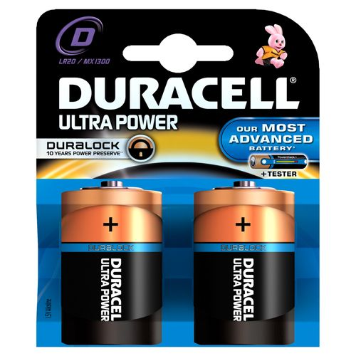 Pile alcaline Duracell Ultra Power 'D - LR20' 1,5 V - 2 pcs