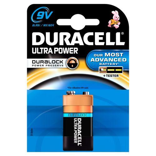 Pile alcaline Duracell Ultra Power 'PP3 - 6LR61'  9 V