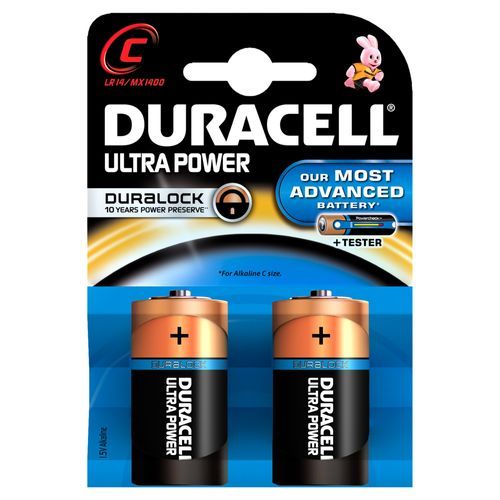 Pile alcaline Duracell Ultra Power 'C - LR14' 1,5 V - 2 pcs