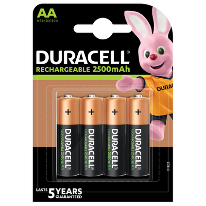 Pile rechargeable Duracell 'Recharge Ultra' AA 2500mAh - 4 pcs