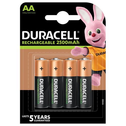 Duracell batterij NI-MH staych AA 1950MAH 4st.