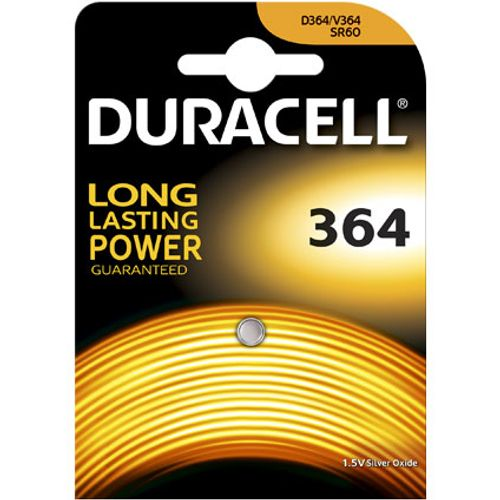 Pile bouton silver oxide Duracell '364' 1,5 V