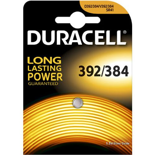 Pile bouton silver oxide Duracell '392/384' 1,5 V