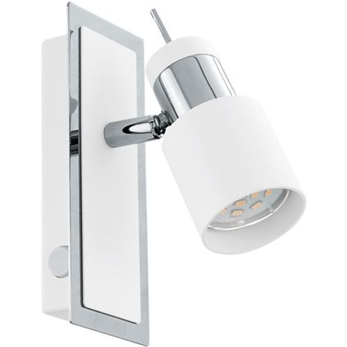 Eglo wandlamp 'Davida' chroom wit 5W