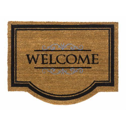 Paillasson 'Welcome' brun 60 x 80 cm
