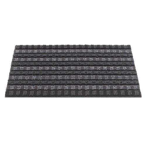 Paillasson 'Quadro Scrape' graphite 50 x 80 cm
