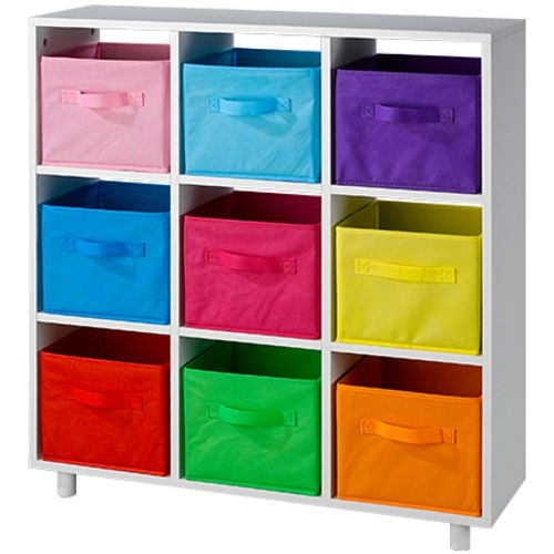 Roomdivider speelgoed opruimkast multicolor