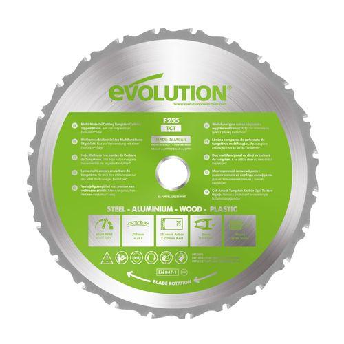Evolution multifunctionele TCT zaagblad FURY255 255mm