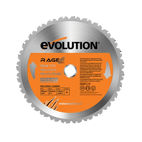 Lame de scie 'RAGE' Evolution 255 mm