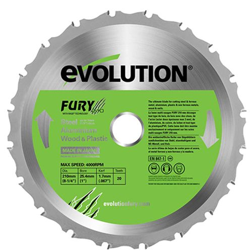 Lame de scie 'FURY' Evolution 210 mm