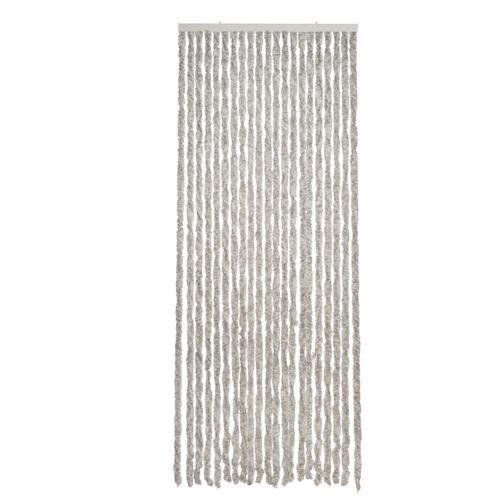 2LIF deurgordijn Martinique 93x210cm grijs-zwart