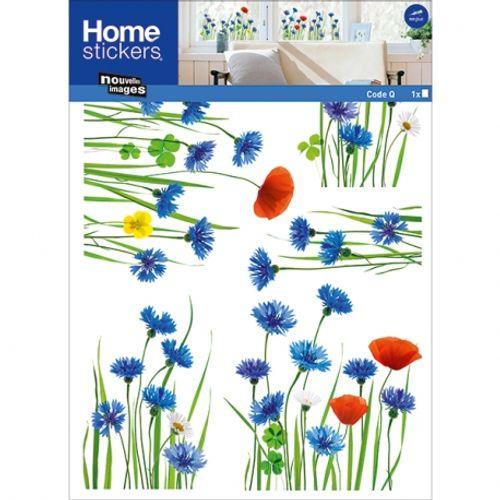 Sticker pour vitre bleuets Nouvelles Images 49 x 69 cm
