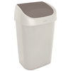 Curver vuilnisbak Mistral Swing recycled PVC beige 25L