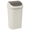 Curver vuilnisbak Mistral Swing recycled PVC beige 50L